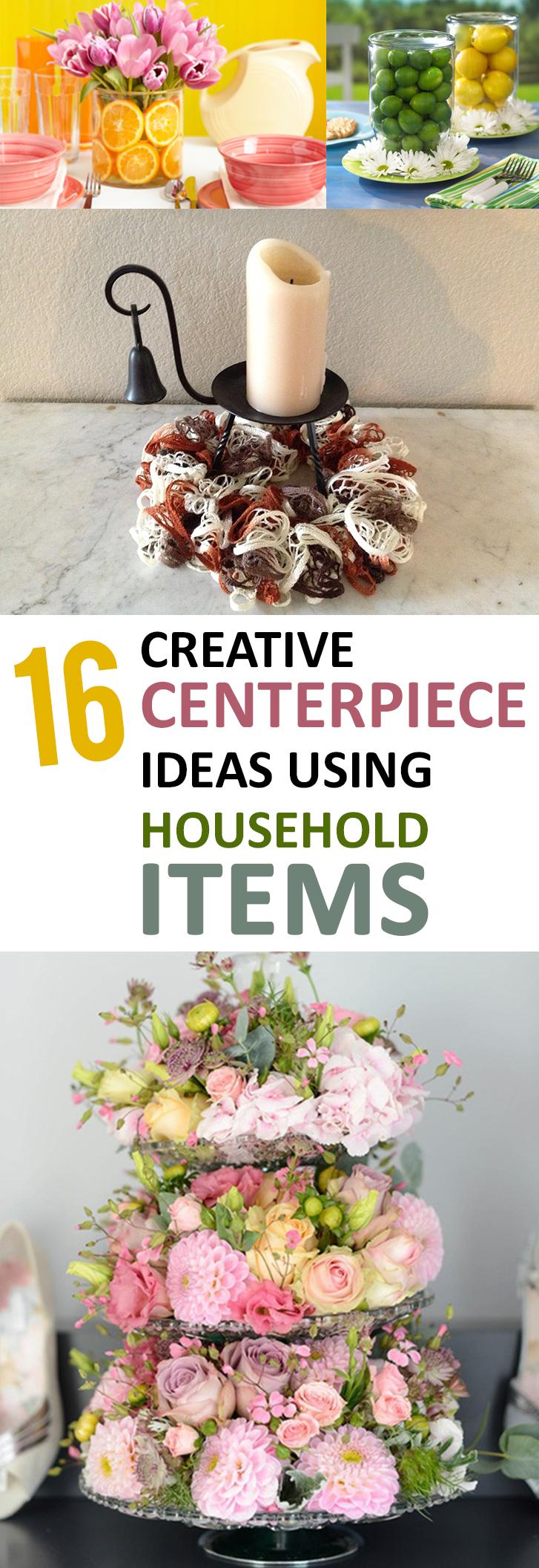 16 Creative Centerpiece Ideas Using Household Items
