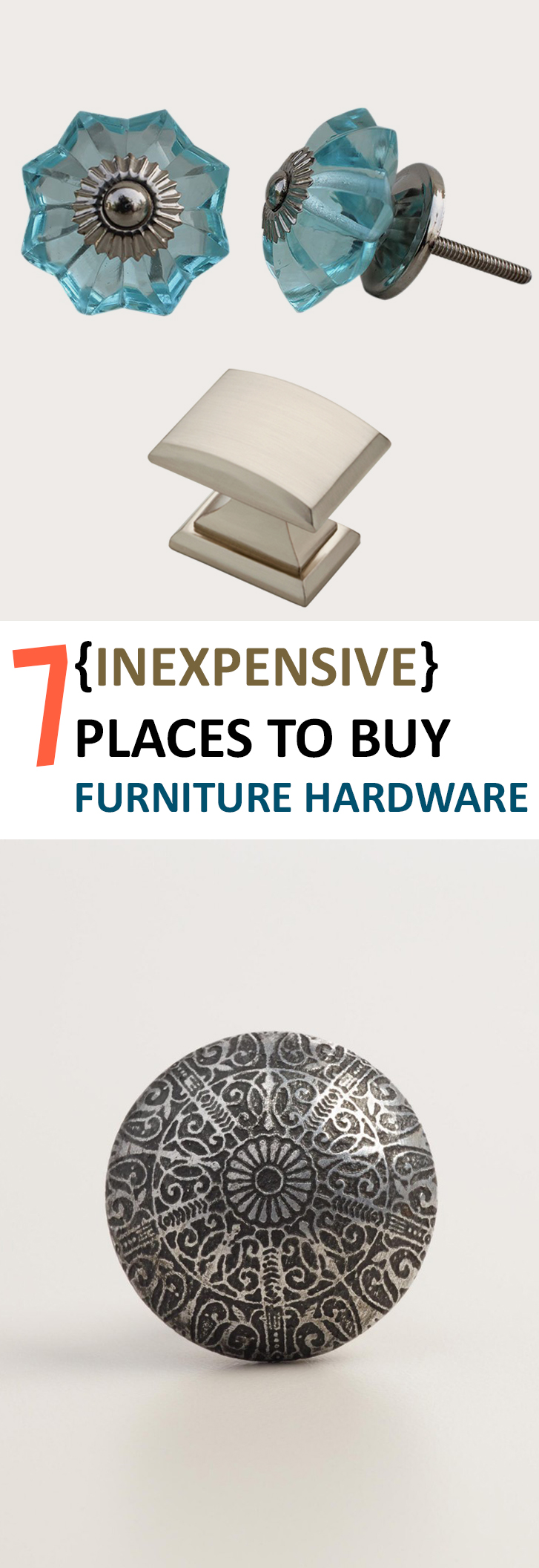 7 inexpensive places to buy furniture hardware for Best place to find affordable furniture