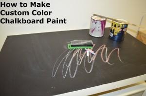 Custom Color Chalkboard Paint