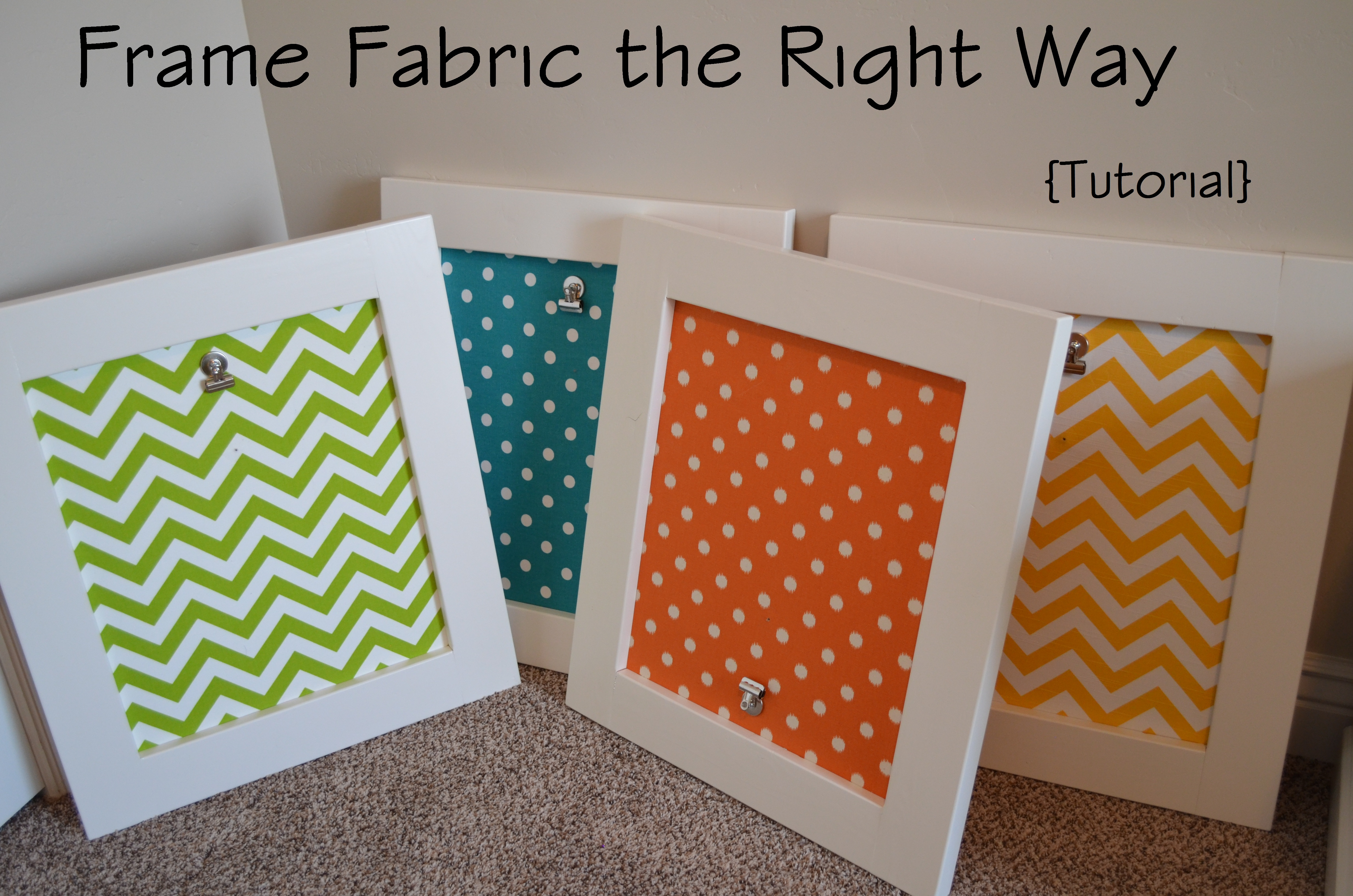 The Easiest Way to Frame Fabric -