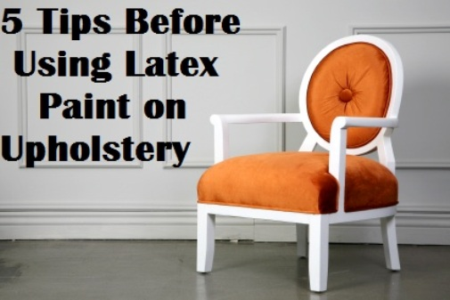 latex paint on upholstery