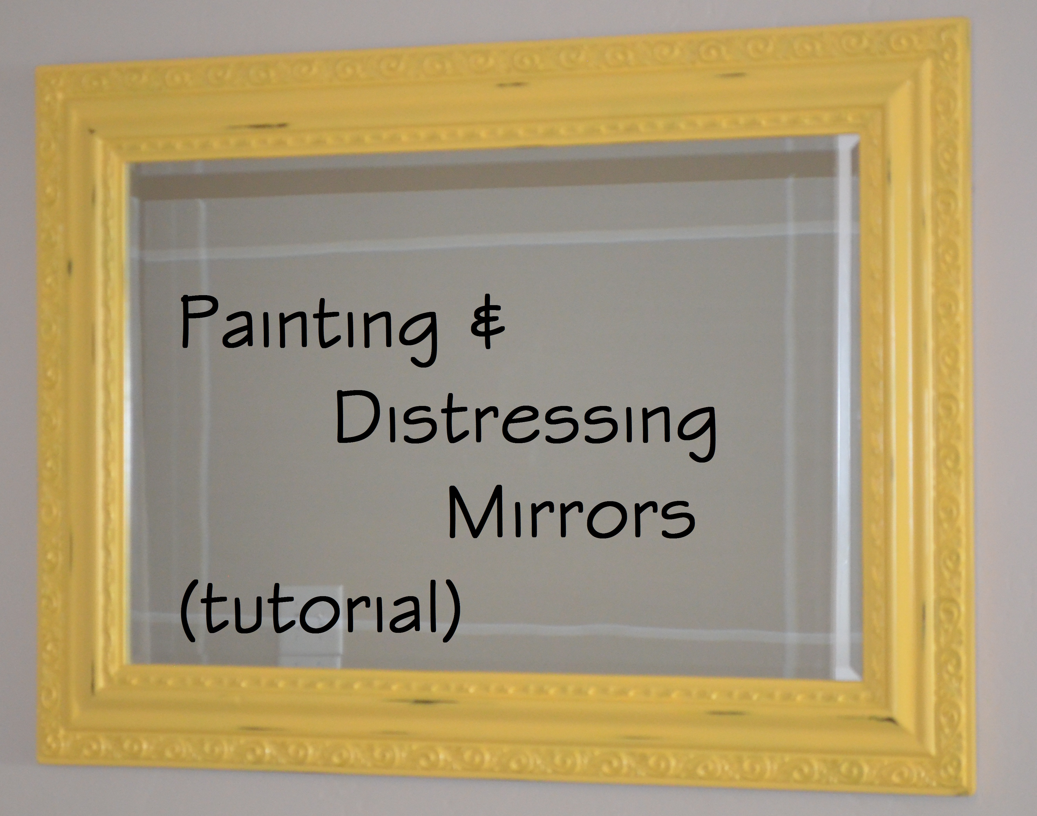 painting and distressing a mirror under 30 minutes