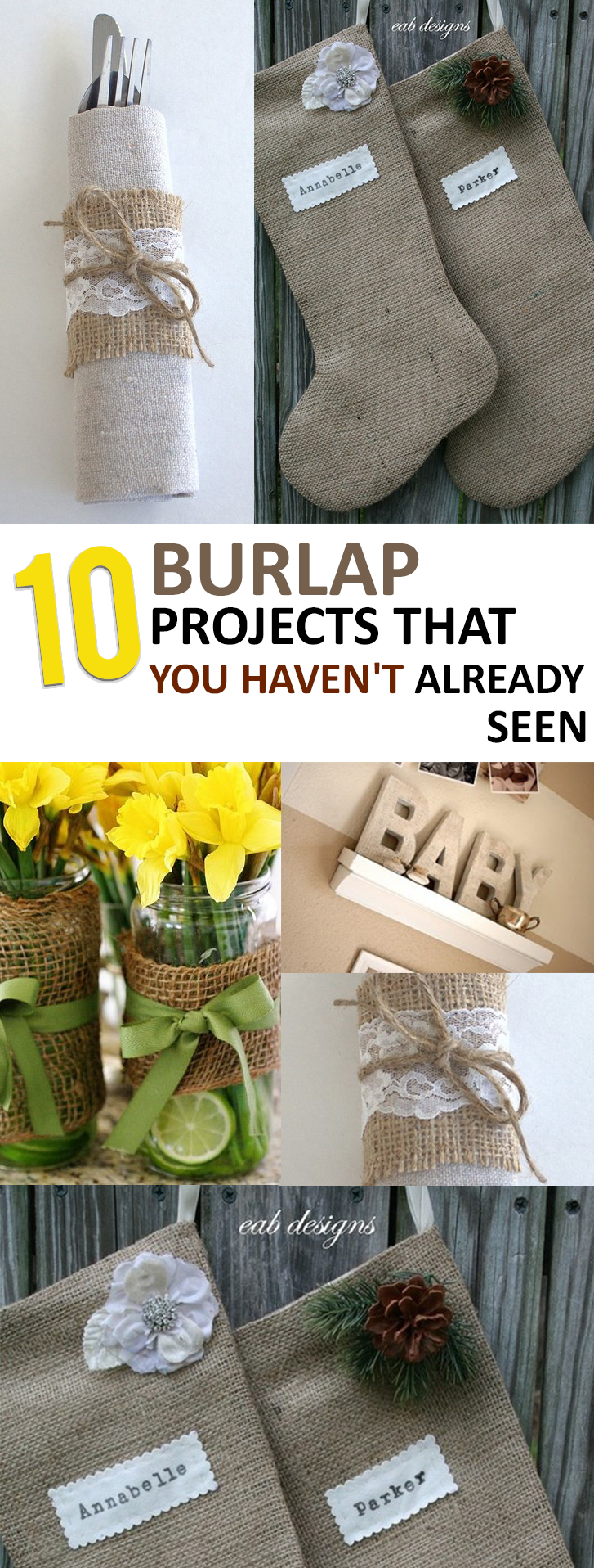 10 Burlap Projects that You Haven't Already Seen