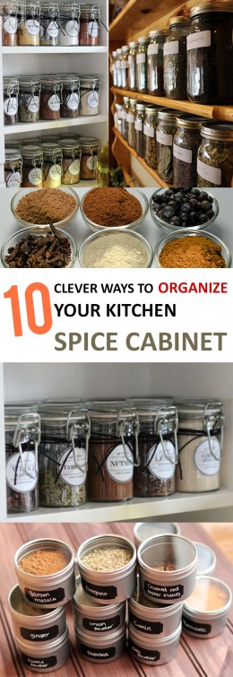 10 Clever Ways to Organize Your Kitchen Spice Cabinet (1)