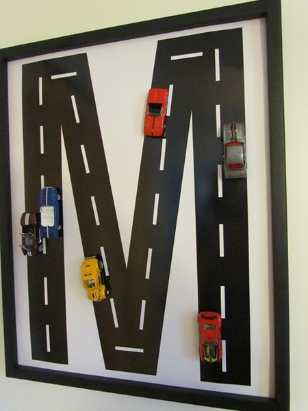 Boy car wall hanging