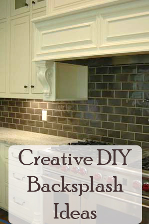 6 creative diy backsplash ideas for Cheap diy kitchen backsplash ideas