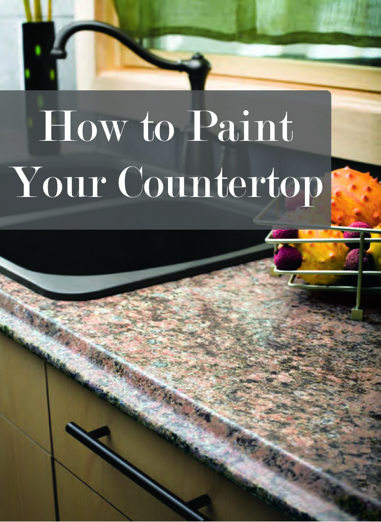 Countertop Paint How To : How to Paint Your Countertop - Sunlit Spaces