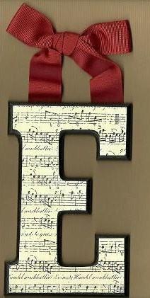 Sheet music letter