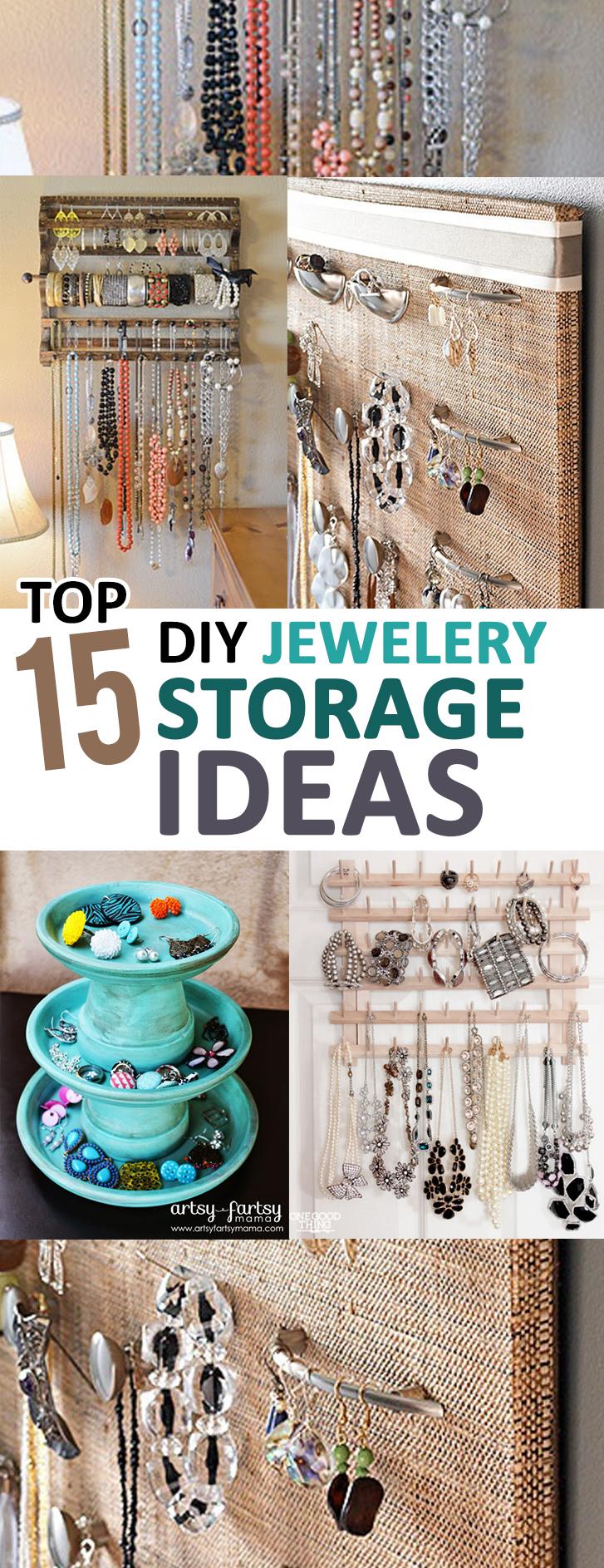 Top 15 DIY Jewelery Storage Ideas