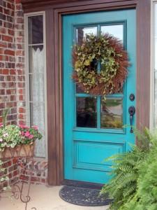 Torquoise front door