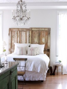 rustic doors headboard