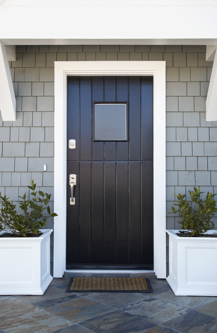 Although black is traditional, it's still a very welcoming color for a front door. Here are some welcoming front door colors to inspire you!