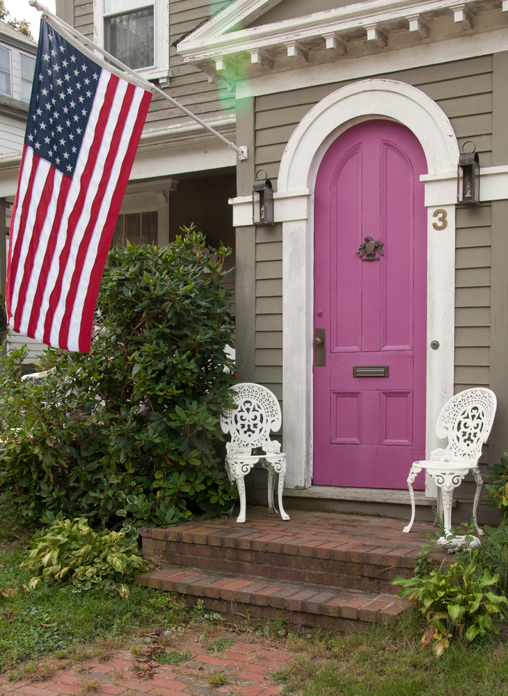 You may not realize it, but pink is quite a trendy choice in front door colors. Here are some welcoming front door colors to inspire you!