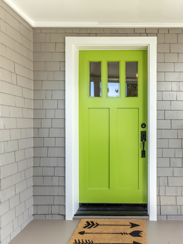 Green is a timeless choice of color for your front door. Here are some welcoming front door colors to inspire you!