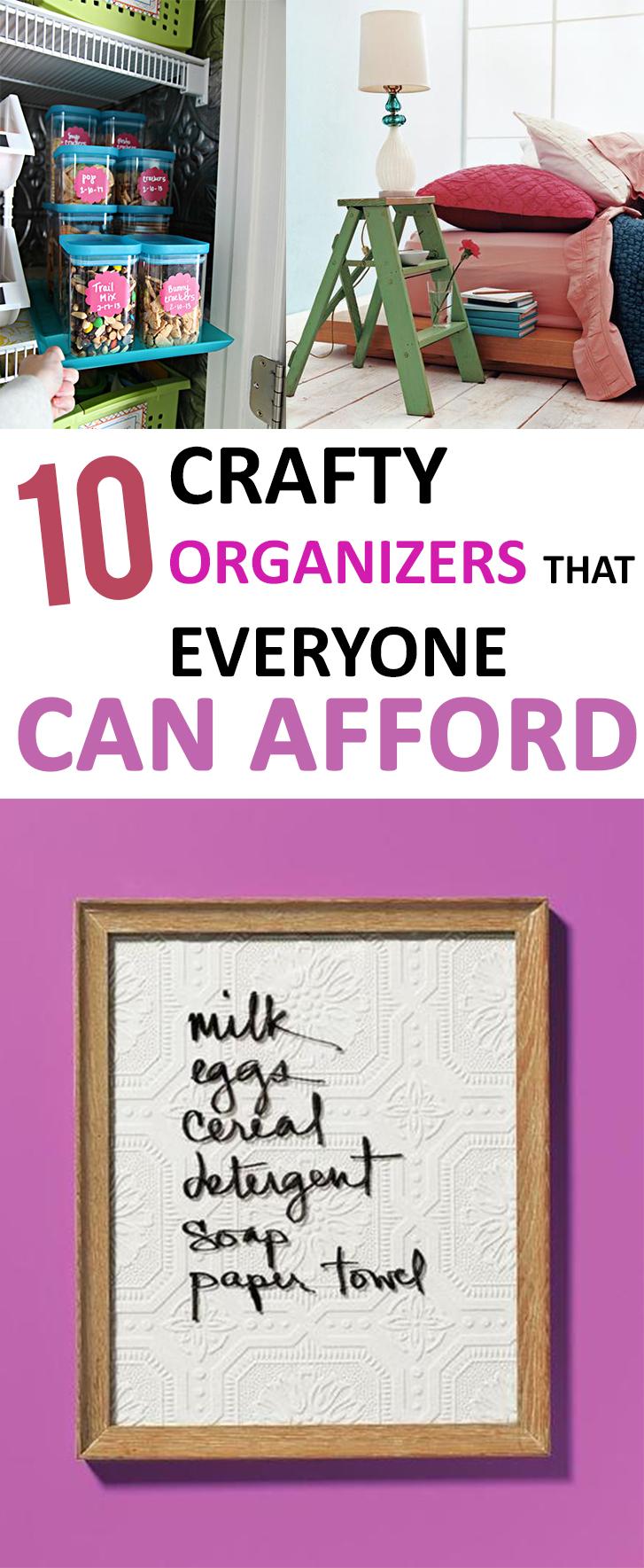 10 Crafty Organizers that Everyone Can Afford