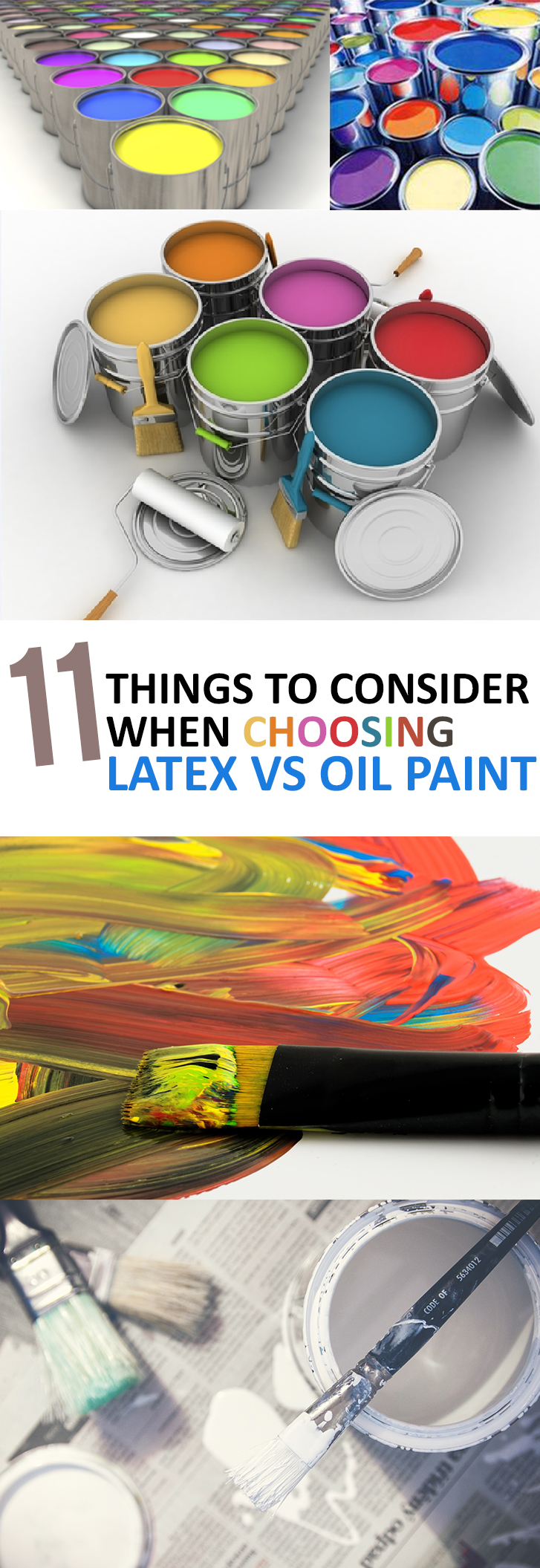 how to clean oil paint off of latex paint