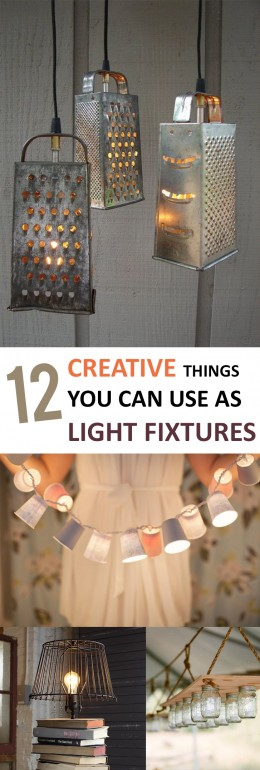12 Creative Things You can Use as Light Fixtures (1)