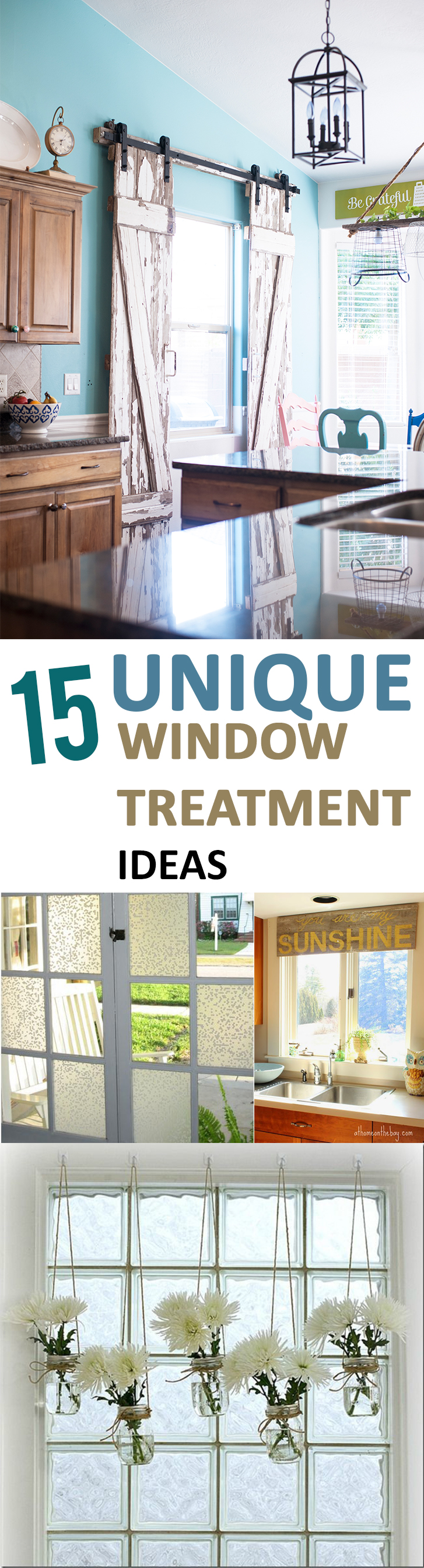 15 Unique Window Treatment Ideas Sunlit Spaces Diy Home Decor Holiday And More