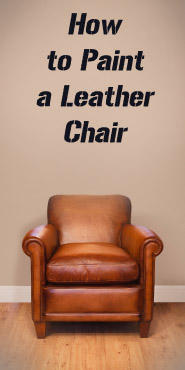 how to paint a leather chair 1. Black Bedroom Furniture Sets. Home Design Ideas