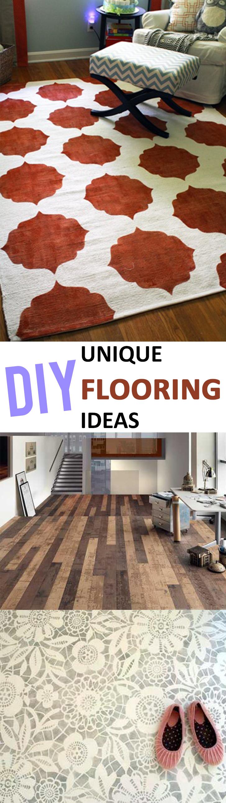 Unique diy flooring ideas for Unusual flooring ideas