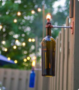 Wine bottle Sconce