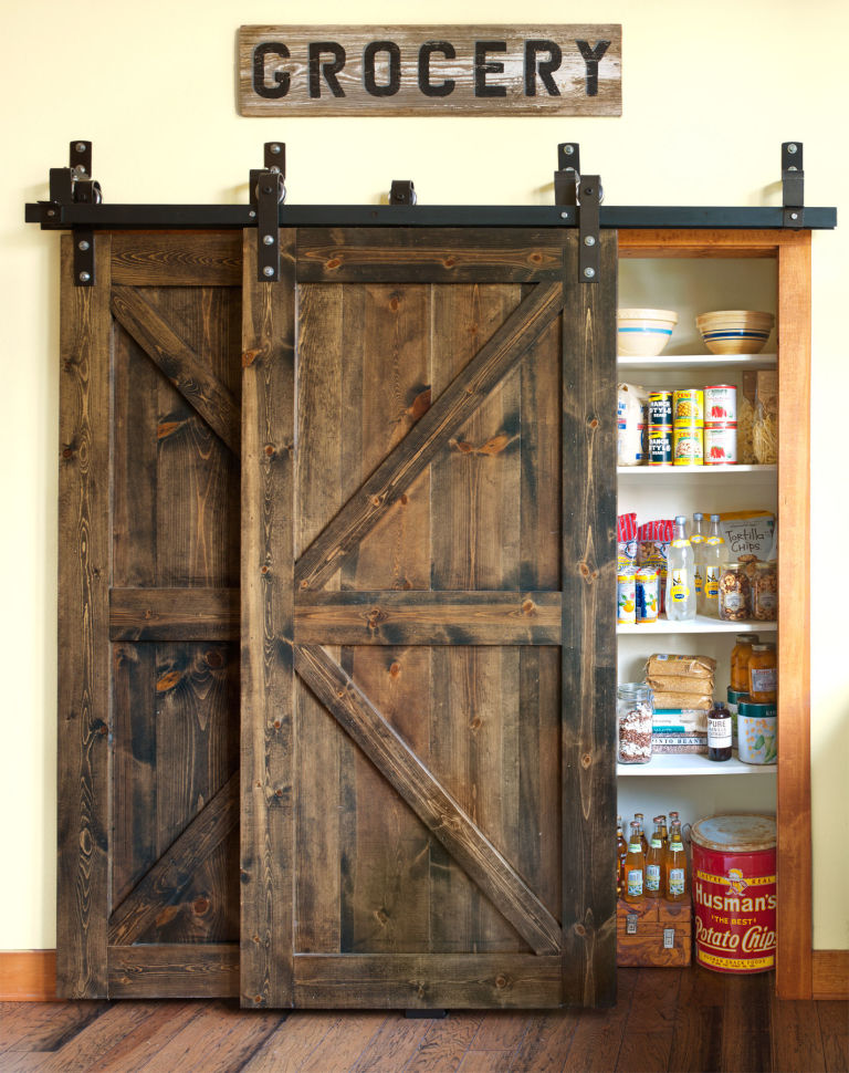 12 barn door projects that will make you want to remodel for Door design accessories