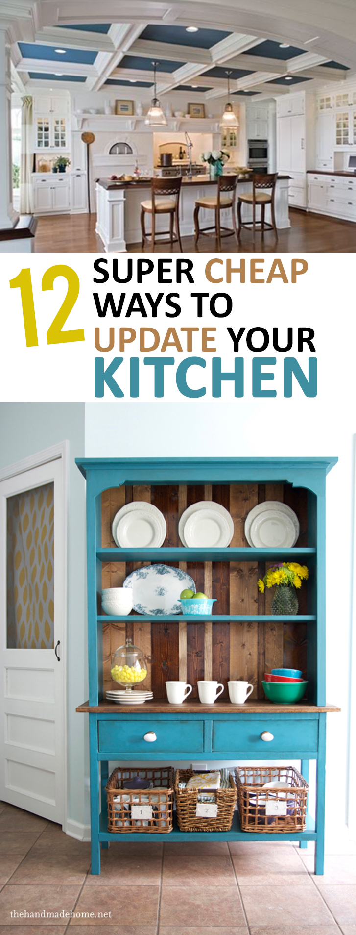 12 super cheap ways to update your kitchen for Budget kitchen cabinet ideas