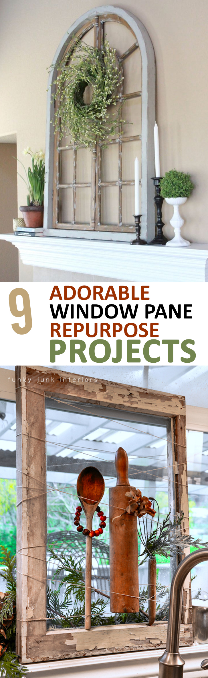 9 Adorable Window Pane Repurpose Projects Sunlit Spaces Diy Home Decor Holiday And More