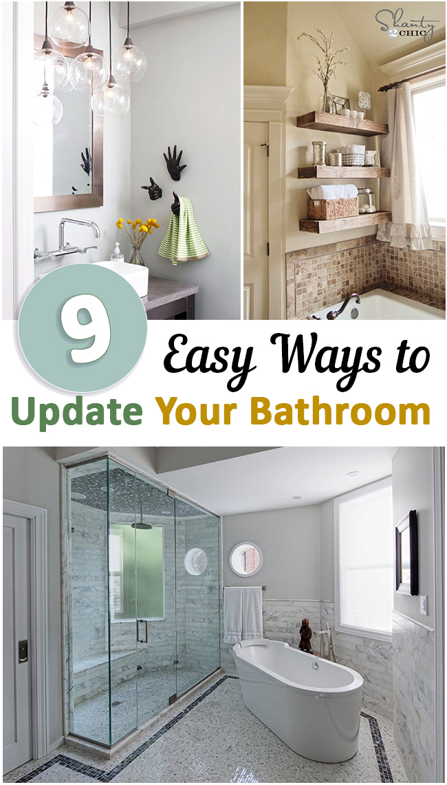 Bathroom  bathroom d cor  organizing small spaces  small space living  dream home. 9 Easy Ways to Update Your Bathroom