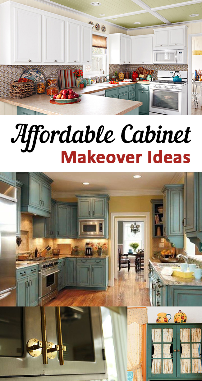 Affordable Cabinet Makeover Ideas - Diy kitchen cabinets makeover