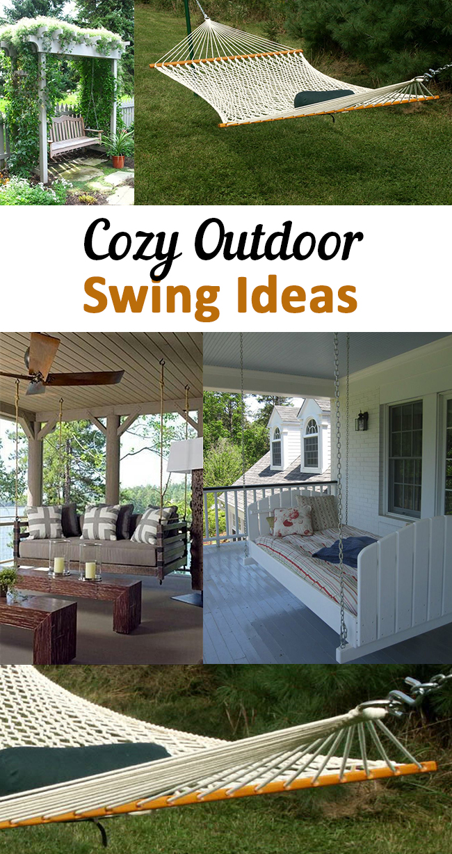 Outdoor swings, DIY outdoor swings, outdoor furniture, popular pin, DIY swings, DIY outdoor projects, cozy projects.