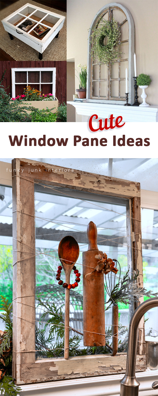 9 Adorable Window Pane Repurpose Projects