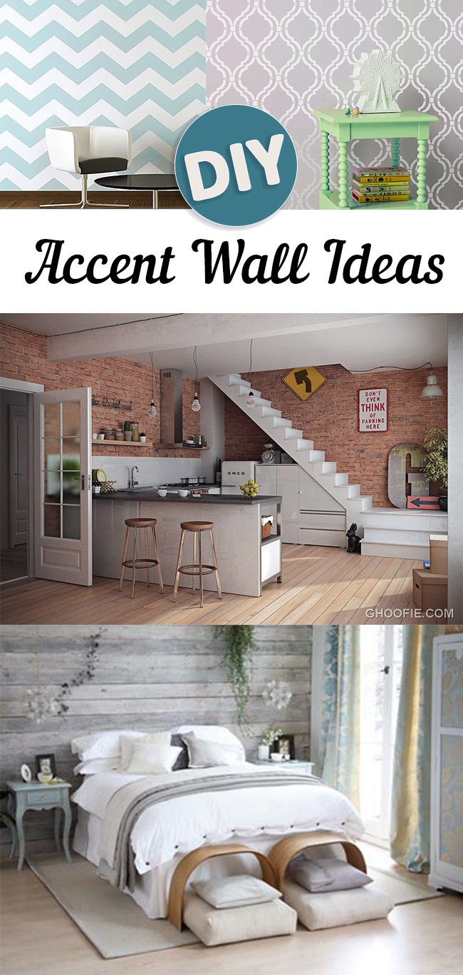 Diy Accent Wall Ideas Sunlit Spaces Diy Home Decor Holiday And More