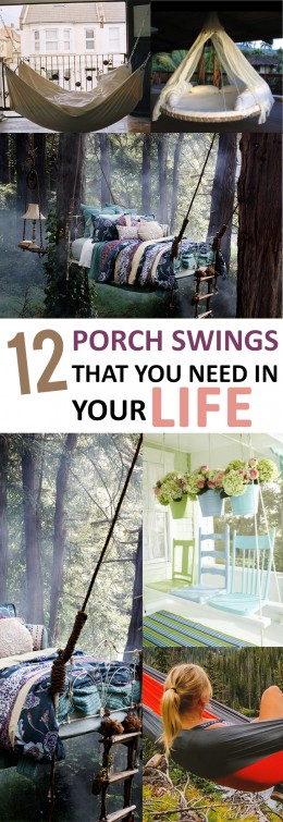 12 Porch Swings That You Need in Your Life