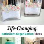 Bathroom, bathroom organization, how to organize your bathroom, popular pin, organizing your bathroom, easy ways to organize, bathroom hacks, bathroom decor, DIY bathroom, bathroom cleaning hacks.