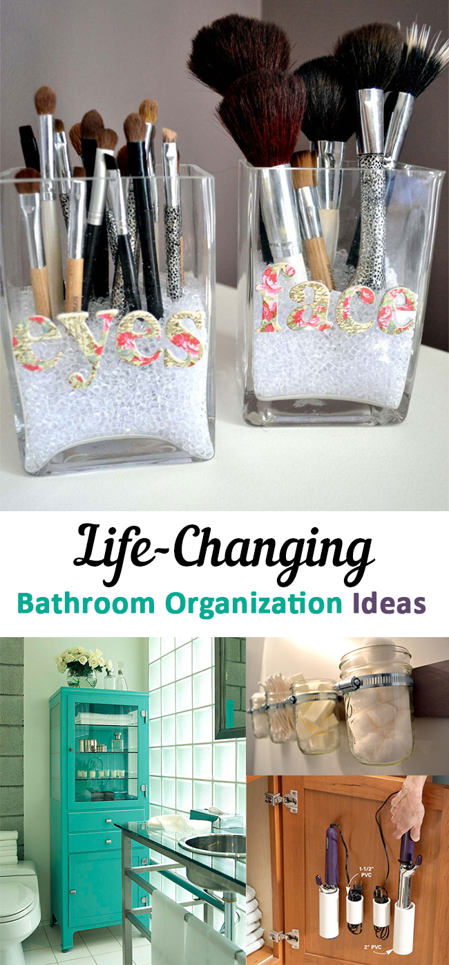 Life changing bathroom organization ideas Bathroom organizing ideas