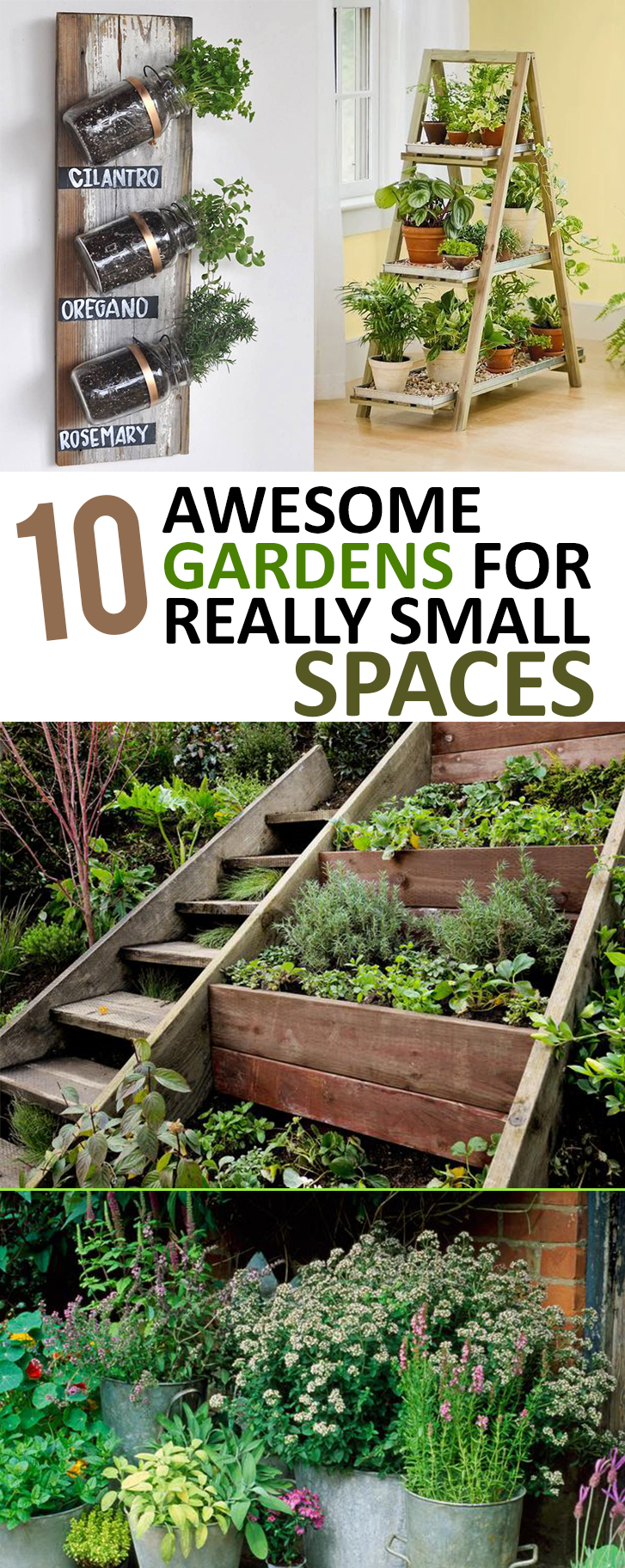 10 awesome gardens for really small spaces for Outdoor garden ideas for small spaces