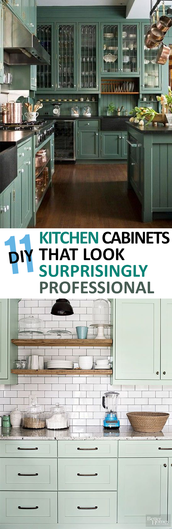 11 diy kitchen cabinets that look surprisingly professional for Kitchen cabinet trends 2018 combined with sticker dude