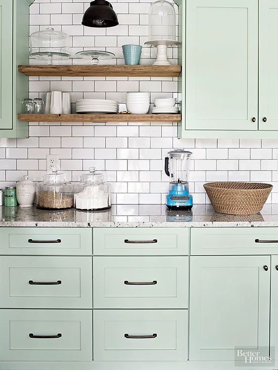 11 diy kitchen cabinets that look surprisingly for Better homes and gardens painting kitchen cabinets