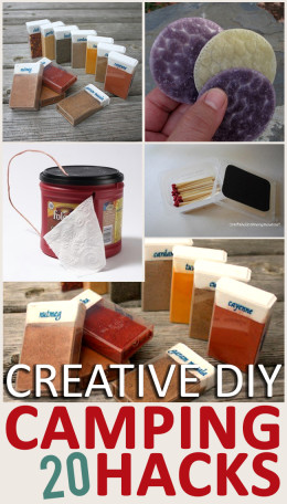 Camping hacks, camping tricks, DIY camping hacks, popular pin, creative camping hacks, outdoor living, outdoor hacks.