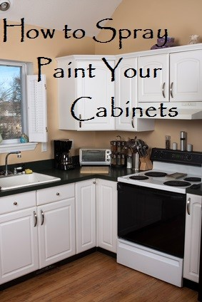 how to spray paint cabinets. Black Bedroom Furniture Sets. Home Design Ideas