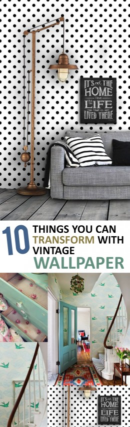 10 Things You Can Transform with Vintage Wallpaper (1)