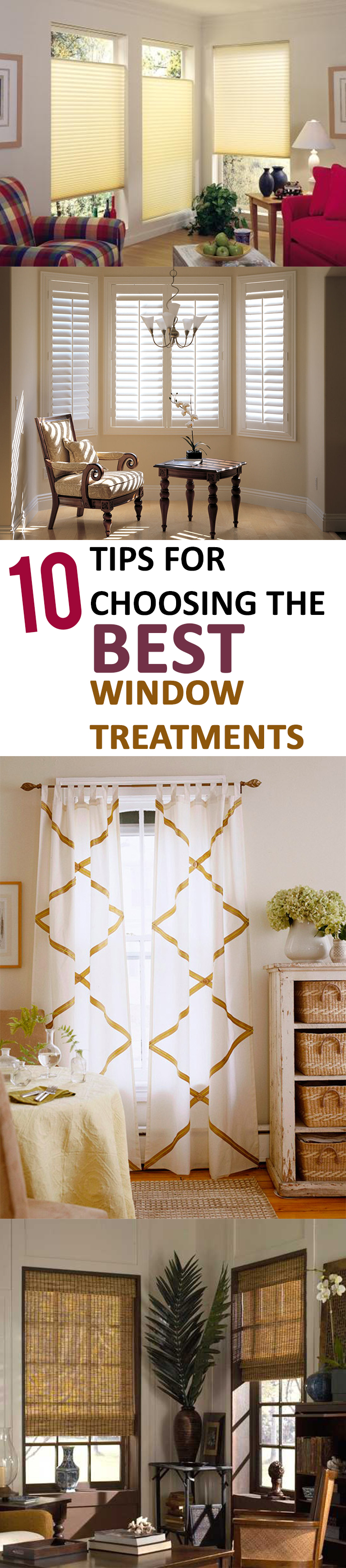 10 tips for choosing the best window treatments - Tips for choosing the right blinds for the rooms ...
