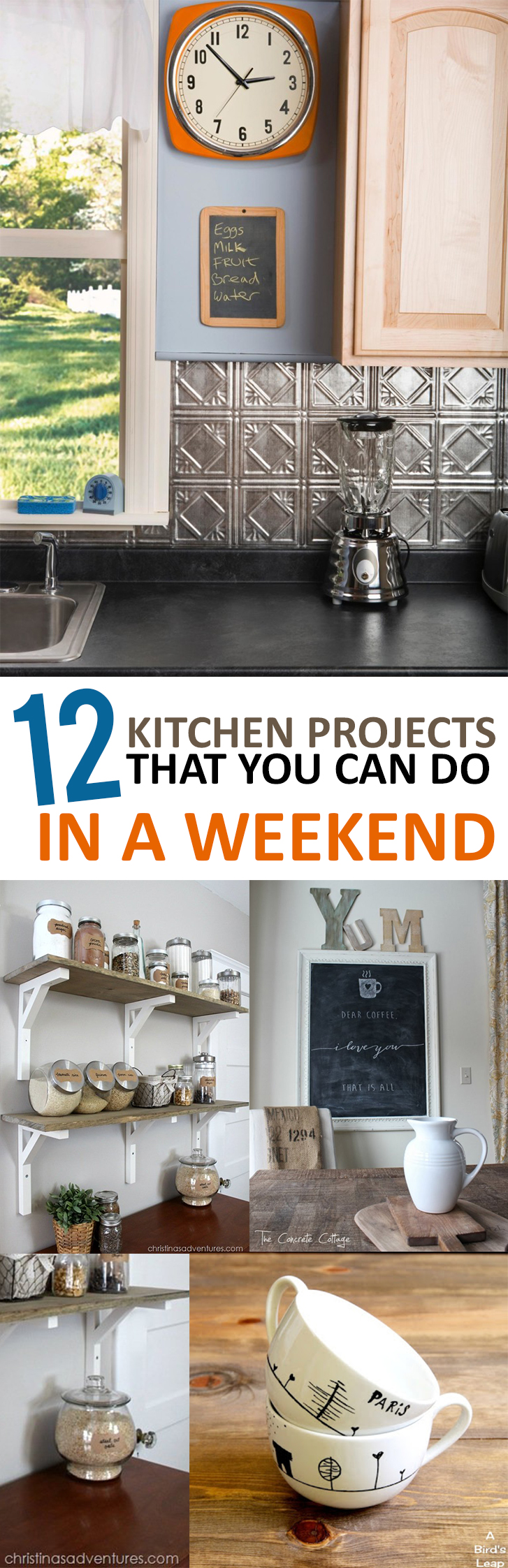 Kitchen Projects 12 Kitchen Projects That You Can Do In A Weekend