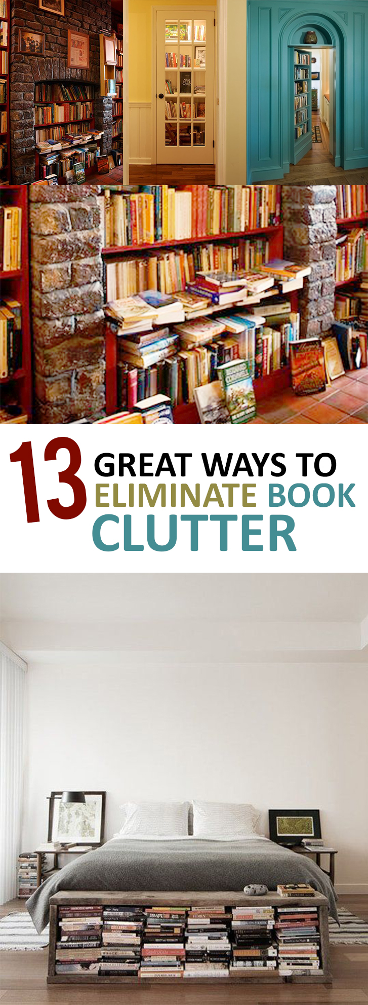 13 Great Ways to Eliminate Book Clutter (1)