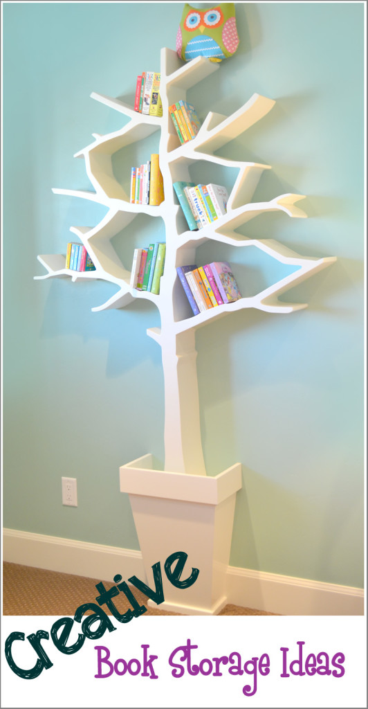 Creative book storage organization ideas for Creative shelf ideas