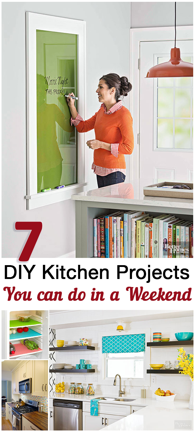 Top 5 kitchen weekend diy projects sunlit spaces for Project weekend