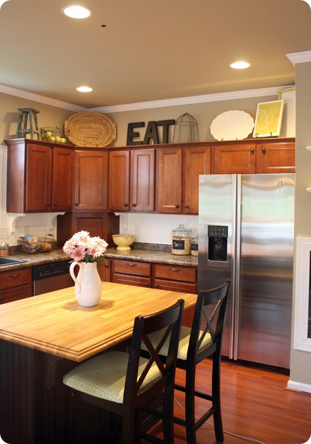 How to decorate your kitchen cabinets sunlit spaces for How to decorate a kitchen counter