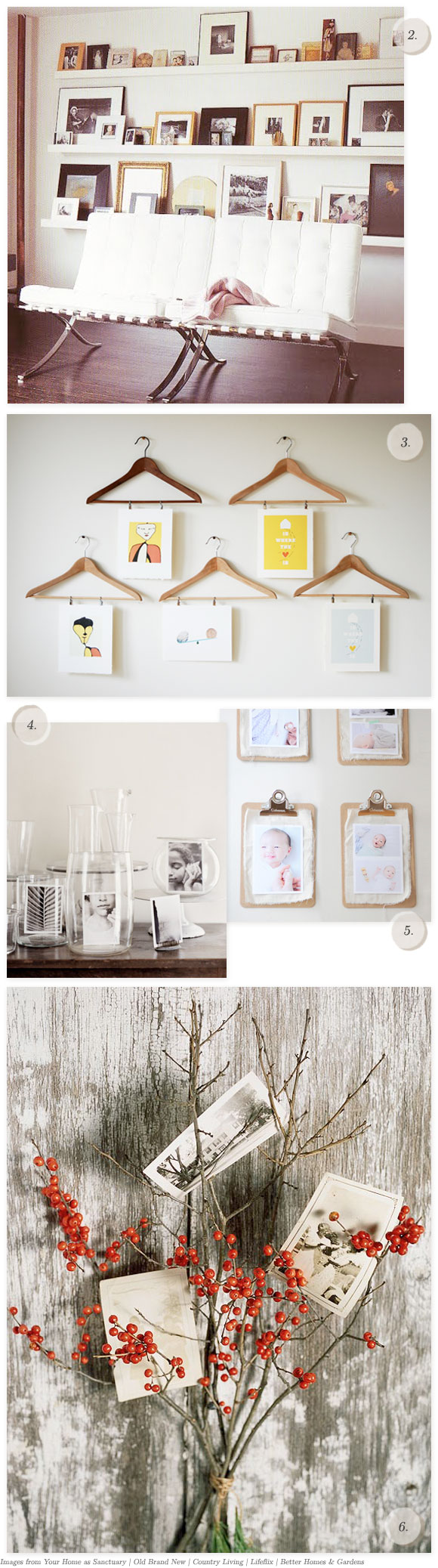 6 creative ways to display pictures