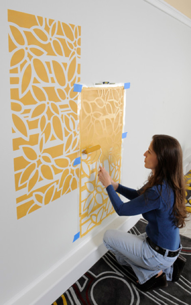 Stenciled Wall Ideas -